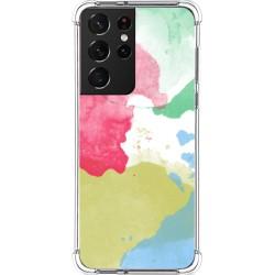 Funda Silicona Antigolpes para Samsung Galaxy S21 Ultra 5G diseño Acuarela 02 Dibujos
