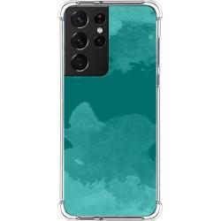 Funda Silicona Antigolpes para Samsung Galaxy S21 Ultra 5G diseño Acuarela 06 Dibujos