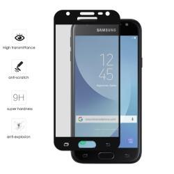 Protector Cristal Templado Frontal Completo Negro para Samsung Galaxy J3 (2017) Vidrio