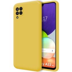 Funda Silicona Líquida Ultra Suave para Samsung Galaxy A22 4G color Amarilla