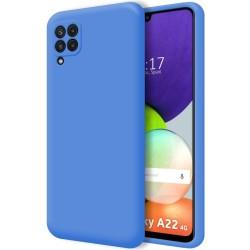 Funda Silicona Líquida Ultra Suave para Samsung Galaxy A22 4G color Azul