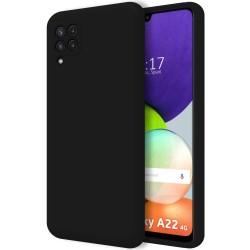 Funda Silicona Líquida Ultra Suave para Samsung Galaxy A22 4G color Negra