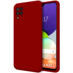 Funda Silicona Líquida Ultra Suave para Samsung Galaxy A22 4G color Roja