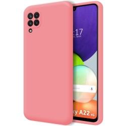 Funda Silicona Líquida Ultra Suave para Samsung Galaxy A22 4G color Rosa