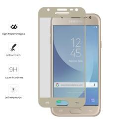 Protector Cristal Templado Frontal Completo Dorado para Samsung Galaxy J3 (2017) Vidrio