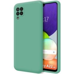 Funda Silicona Líquida Ultra Suave para Samsung Galaxy A22 4G color Verde