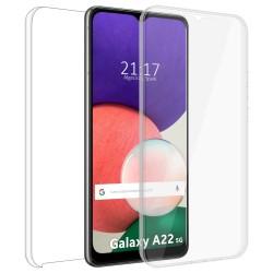 Funda Doble Transparente Pc + Tpu Full Body 360 para Samsung Galaxy A22 5G