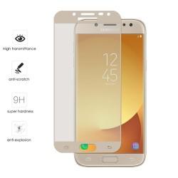 Protector Cristal Templado Frontal Completo Dorado para Samsung Galaxy J7 (2017) Vidrio