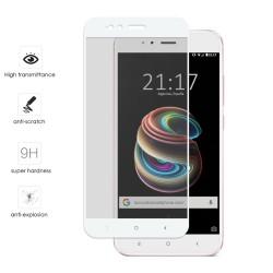 Protector Cristal Templado Frontal Completo Blanco para Xiaomi Mi 5X / Mi A1 Vidrio
