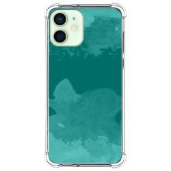 Funda Silicona Antigolpes para Iphone 12 Mini (5.4) diseño Acuarela 06 Dibujos