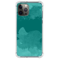 Funda Silicona Antigolpes para Iphone 12 Pro Max (6.7) diseño Acuarela 06 Dibujos