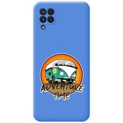 Funda Silicona Líquida Azul para Samsung Galaxy A22 LTE 4G diseño Adventure Time Dibujos