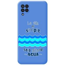Funda Silicona Líquida Azul para Samsung Galaxy A22 LTE 4G diseño Agua Dibujos