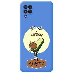 Funda Silicona Líquida Azul para Samsung Galaxy A22 LTE 4G diseño Culo Natural Dibujos