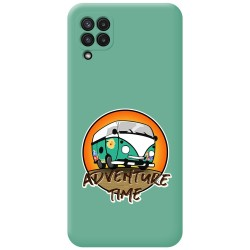 Funda Silicona Líquida Verde para Samsung Galaxy A22 LTE 4G diseño Adventure Time Dibujos