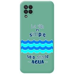 Funda Silicona Líquida Verde para Samsung Galaxy A22 LTE 4G diseño Agua Dibujos