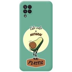 Funda Silicona Líquida Verde para Samsung Galaxy A22 LTE 4G diseño Culo Natural Dibujos