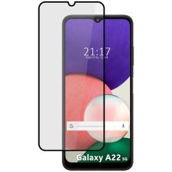 Protector Cristal Templado Completo 5D Full Glue Negro para Samsung Galaxy A22 5G Vidrio