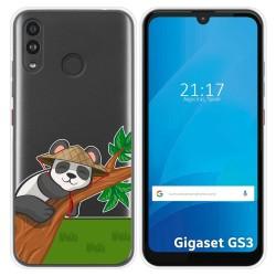 Funda Silicona Transparente para Gigaset GS3 diseño Panda Dibujos