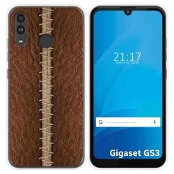 Funda Silicona para Gigaset GS3 diseño Cuero 01 Dibujos