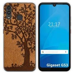 Funda Silicona para Gigaset GS3 diseño Cuero 03 Dibujos