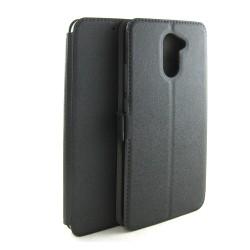 Funda Soporte Piel Negra para Huawei Y7 Flip Libro