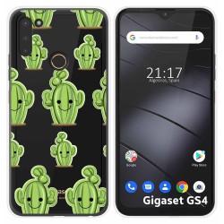 Funda Silicona Transparente para Gigaset GS4 diseño Cactus Dibujos