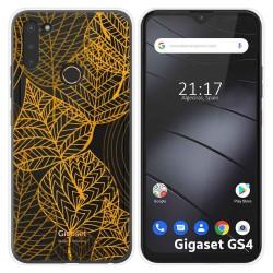 Funda Silicona Transparente para Gigaset GS4 diseño Hojas Dibujos
