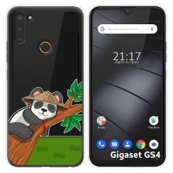 Funda Silicona Transparente para Gigaset GS4 diseño Panda Dibujos