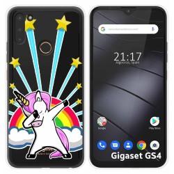 Funda Silicona Transparente para Gigaset GS4 diseño Unicornio Dibujos