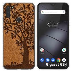 Funda Silicona para Gigaset GS4 diseño Cuero 03 Dibujos