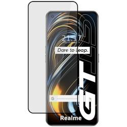 Protector Cristal Templado Completo 5D Full Glue Negro para Realme GT 5G Vidrio
