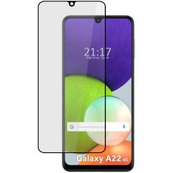 Protector Cristal Templado Completo 5D Full Glue Negro para Samsung Galaxy A22 LTE 4G Vidrio
