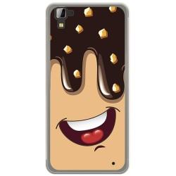 Funda Gel Tpu para Hisense C30 Rock Diseño Helado Chocolate Dibujos