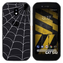 Funda Silicona Transparente para Cat S42 / S42 H+ diseño Araña Dibujos