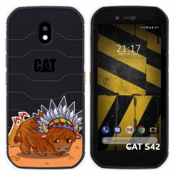 Funda Silicona Transparente para Cat S42 / S42 H+ diseño Bufalo Dibujos