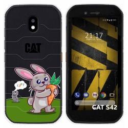 Funda Silicona Transparente para Cat S42 / S42 H+ diseño Conejo Dibujos