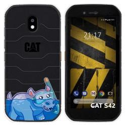 Funda Silicona Transparente para Cat S42 / S42 H+ diseño Hipo Dibujos