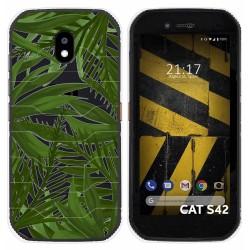 Funda Silicona Transparente para Cat S42 / S42 H+ diseño Jungla Dibujos