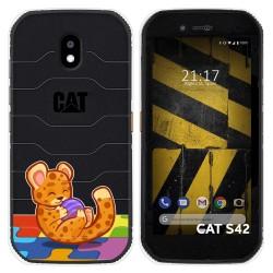 Funda Silicona Transparente para Cat S42 / S42 H+ diseño Leopardo Dibujos