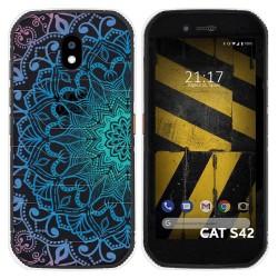 Funda Silicona Transparente para Cat S42 / S42 H+ diseño Mandala Dibujos