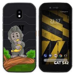 Funda Silicona Transparente para Cat S42 / S42 H+ diseño Mono Dibujos