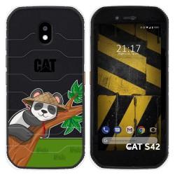 Funda Silicona Transparente para Cat S42 / S42 H+ diseño Panda Dibujos
