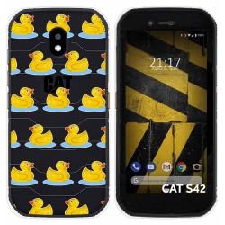 Funda Silicona Transparente para Cat S42 / S42 H+ diseño Pato Dibujos