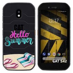 Funda Silicona Transparente para Cat S42 / S42 H+ diseño Summer Dibujos