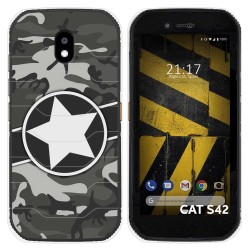 Funda Silicona para Cat S42 / S42 H+ diseño Camuflaje 02 Dibujos
