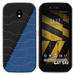 Funda Silicona para Cat S42 / S42 H+ diseño Cuero 02 Dibujos