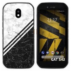 Funda Silicona para Cat S42 / S42 H+ diseño Mármol 01 Dibujos