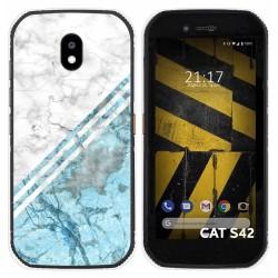 Funda Silicona para Cat S42 / S42 H+ diseño Mármol 02 Dibujos