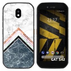 Funda Silicona para Cat S42 / S42 H+ diseño Mármol 05 Dibujos